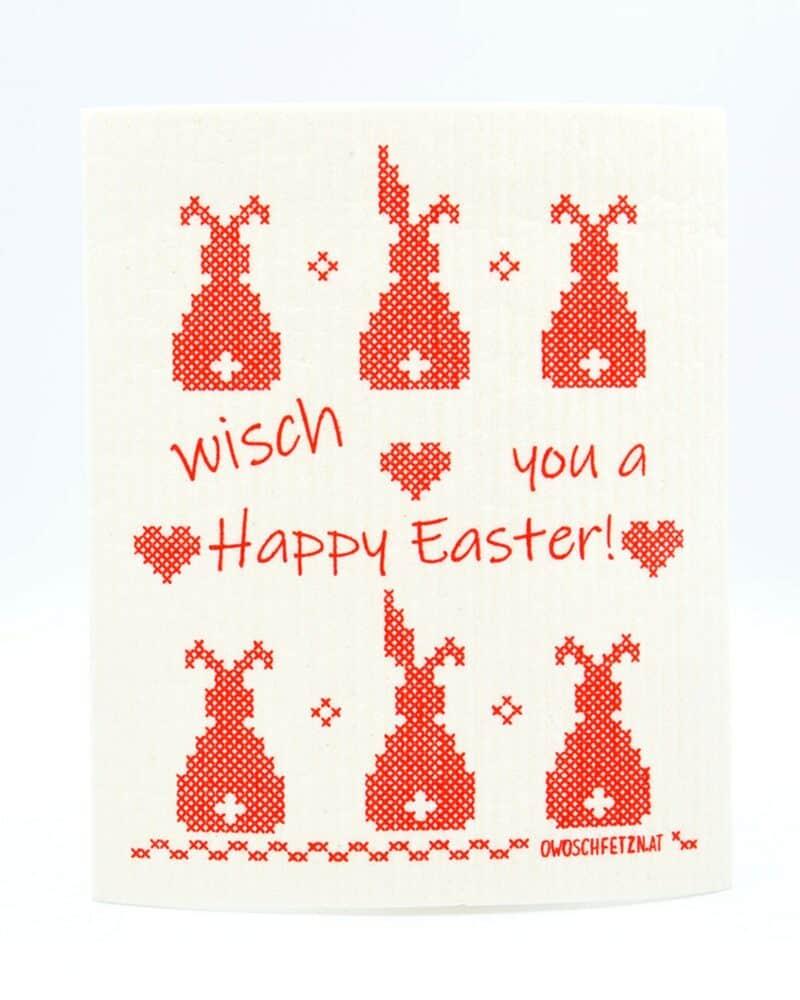 Owoschfetzn Kreuzstich Wisch you a Happy Easter