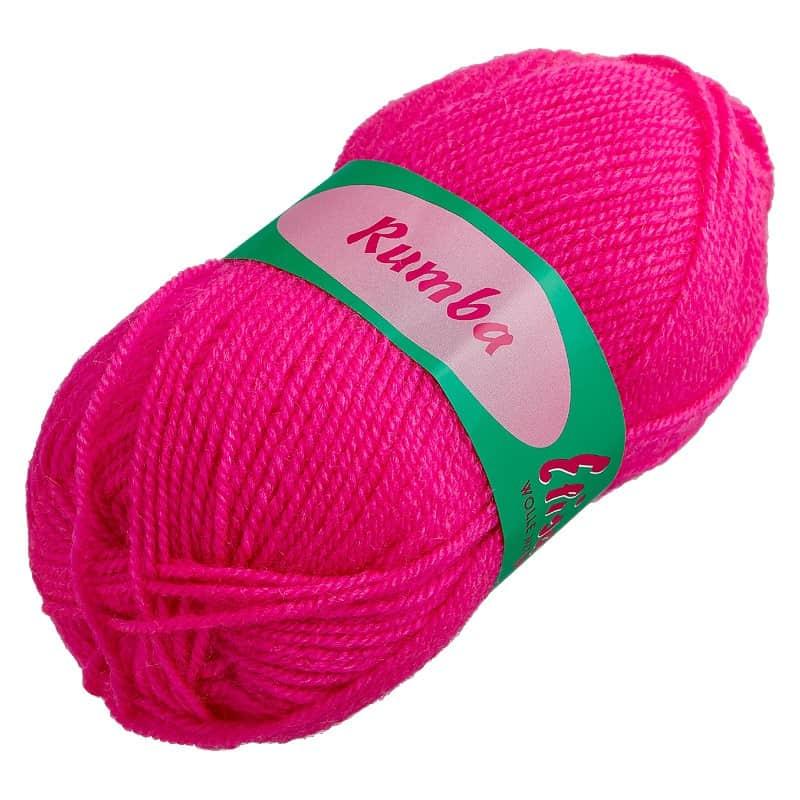 Rumba-Wolle knallrosa
