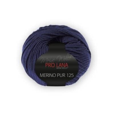 Merinowolle Pur 125 Dunkelblau